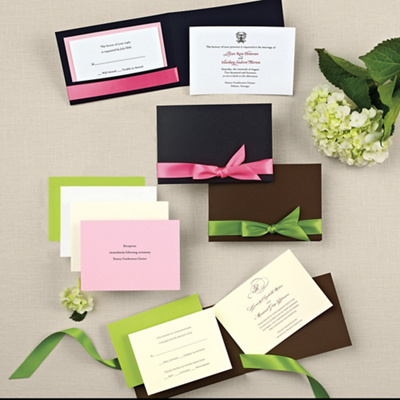 Stylish Wrap Wedding Invitation