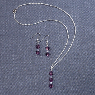 Swarovski Crystal Necklace and Earring Set