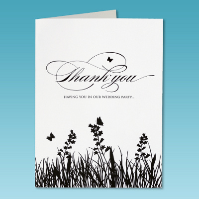 Custom Designed Wedding Party Thank-You Cards, Unique Gift Cards