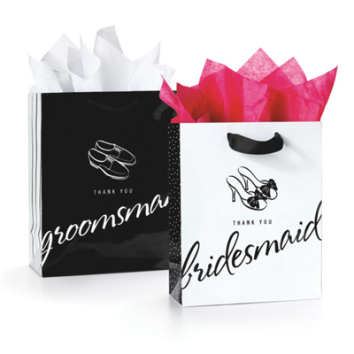 Thank You Wedding Gift Bags : Thank You Gift Bags for Your Attendants Gifts