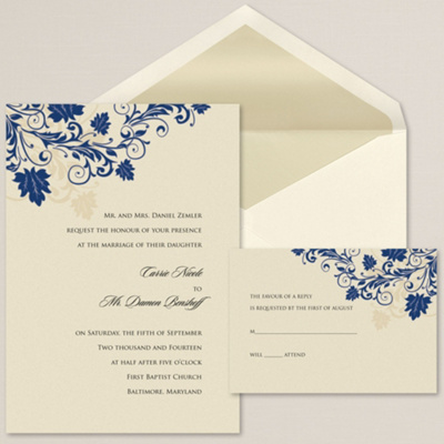 Touch of Glamour Wedding Invitation