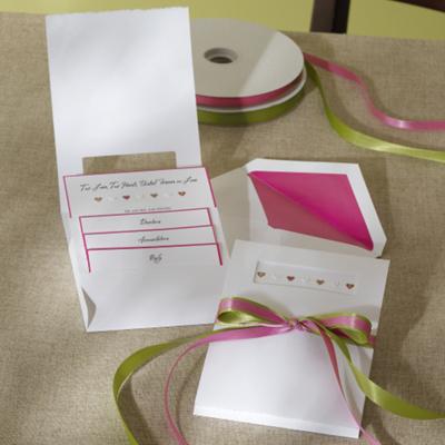 True Love Pocket Wedding Invitation
