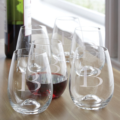 Exclusively weddings tuscany classics stemless wine glass set - Lenox stemless red wine glasses ...