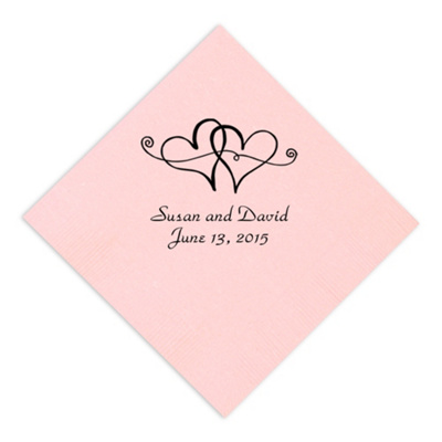 Twin Hearts Napkin