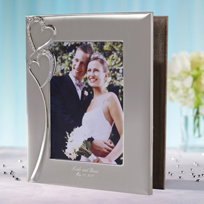 Twin Hearts Photo-Front Wedding Album