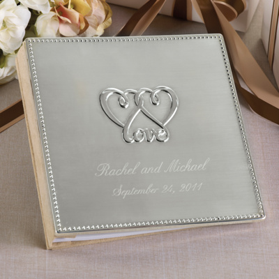 Two Hearts, One Love Wedding Guest Book