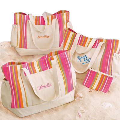 Personalized Bridesmaid's Beach Bag