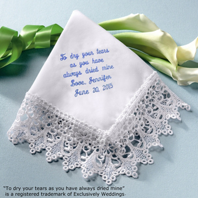Venise Lace Mothers Hanky In White