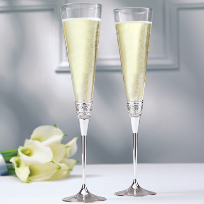 "Vera Wang ""With Love"" Toasting Flutes by Wedgwood"
