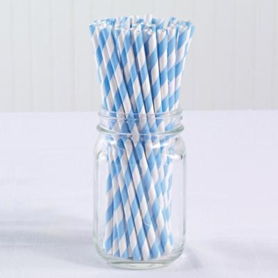 Vintage Paper Straws (pack of 50)-Blue