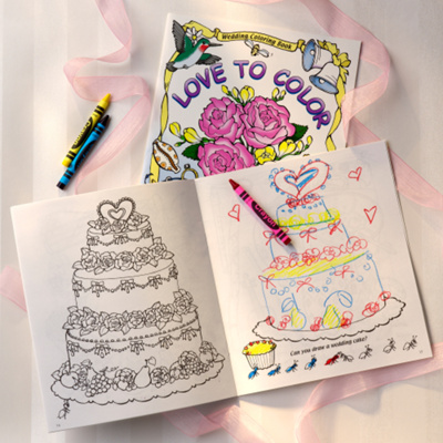 Wedding Day Coloring Book for Flower Girl and Ring Bearer