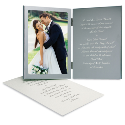 Engraved Wedding Invitation Photo Frame Wedding Invitation Frame