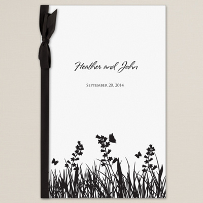 Butterfly Kisses Wedding Program Cover