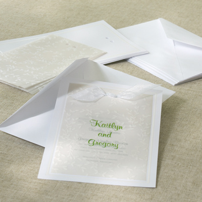 White Vines DIY Wedding Invitation Kit