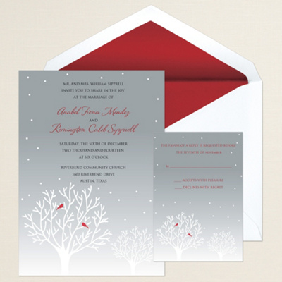 Winter's Essence Wedding Invitation