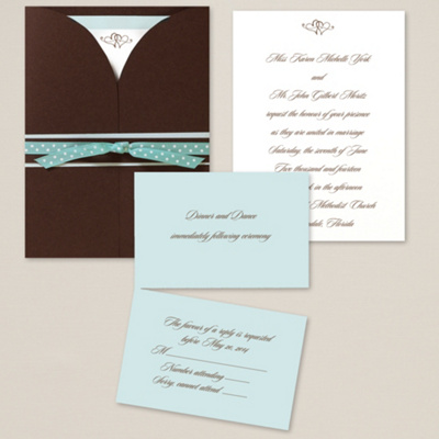 Wrapped in Romance Wedding Invitation