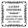 Antique Square Return Address Personalized Stamp