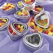 Heart-Shaped Wedding Favor Tins