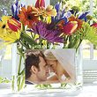 Personalized Glass Wedding Photo Centerpiece/Vase