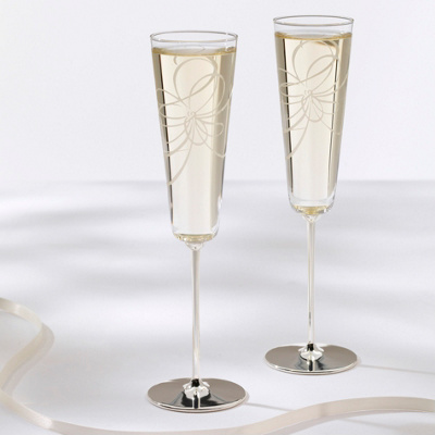 kate spade new york Belle Boulevard Wedding Toasting Flutes