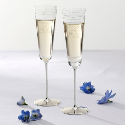kate spade new york Darling Point Wedding Flutes