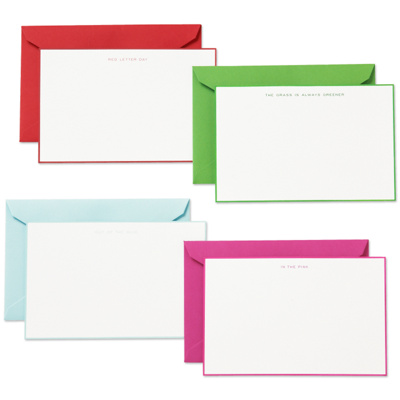 kate spade Idiom Hand-Bordered Note Card Set